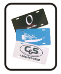 License Plates and Tags by Todd's Graphics To Go Sanford, Lake Mary, Longwood, Deltona, Debary, Geneva, Florida
