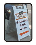 A Frame signs, Sidewalk Signs by Todd's Graphics To Go Sanford, Lake Mary, Longwood, Deltona, Debary, Geneva, Florida