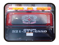 Full Color Back Window Graphic by Todd's Graphics To Go Sanford, Lake Mary, Longwood, Deltona, Debary, Geneva, FL