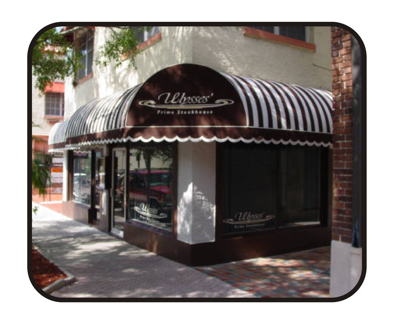 Store Fronts, Window Lettering, Awnings with logo by Todd's Graphics To Go Sanford, Lake Mary, Longwood, Deltona, Debary, Geneva, Florida